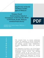 The Effect of Reducing Poverty on Income Polarization in Northern Corridor Economic Region of Malaysia