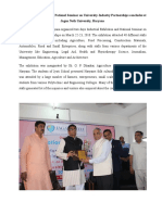 Jagan Nath University, Haryana organized two days Industrial Exhibition and National Seminar on University-Industry Partnerships on March 22-23, 2018.