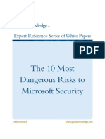 The 10 Most Dangerous Risks to Microsoft Security