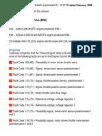 M52TU Throttle Valve Codes