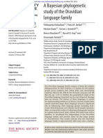 A Bayesian phylogenetic study of the Dravidian language family