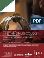 Ethnomusicologie en Flyer