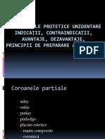 Restaurari protetice- coroane partiale