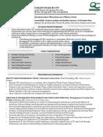 Sample CIO Resume