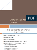 Imp and Scope of Hrm