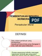 Pembentukan Individu Bermoral