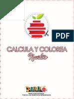 Calcula y Colorea Navideño