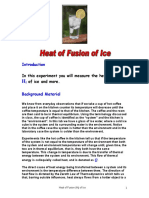 Lab 1 Heat of Fusion of Ice