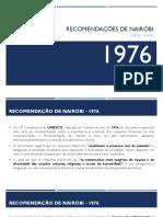 Carta - Recomendações de Nairóbi 1976 - Restauro