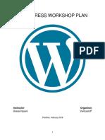 Wordpress Workshop Syllabus
