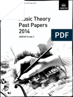 Music Theory_Past Paper Grade 2 2014