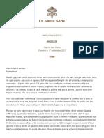 Papa Francesco Angelus 2013-09-01 ITA