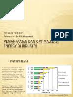 Pemanfaatan Dan Optimalisasi Energy Di Industri