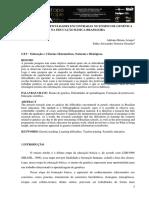 As Principais Dificuldades Encontradas No Ensino de Genética Na Educação Básica Brasileira