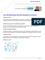 Top 100 Networking Interview Questions Answers