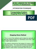 Stepping Stone Method (Transportation Problem)