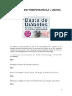 Tips Para Curar Naturalmente La Diabetes