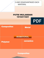 Advantages and Disadvantages Each Material Ppt