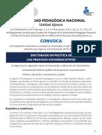 Convocatoria 2018DPPS