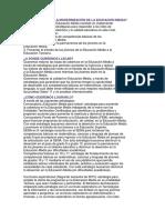 Modernización de la educación media Colombia