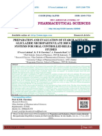 PREPARATION AND EVALUATION OF STARCH ACETATEGLICLAZIDE MICROPARTICULATE DRUG DELIVERY SYSTEMS FOR ORAL CONTROLLED RELEASE
