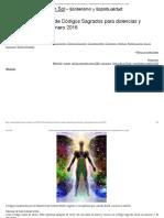 Actualización Listado de Códigos Sagrados para dolencias y enfermedades hasta enero 2016 _ Compartiendo Luz con Sol