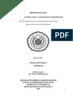 Presentasi Kasus Anesthesi General Pada Laparoskopi Apendiktomi