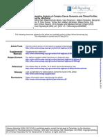 Integrative Analysis of Complex Cancer Genomic