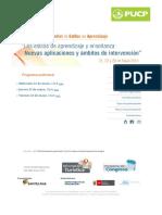 PUCP _ VI CONGRESO MUNDIAL de ESTILOS de APRENDIZAJE_ Los Estilos de Aprendizaje y Enseñanza_ Nuevas Aplicaciones y Ámbitos de Intervención
