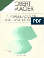 A Formulação de Objetivos de Ensino - Robert F Mager