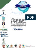 Programa Cientifico Riaices 2016