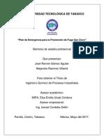 Plan de Emergencia Trabajo Recepcional 2017
