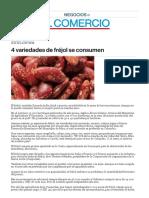 4 Variedades de Fréjol Se Consumen - Diario El Comercio [23 Abr 2011]