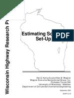 Estimating Soil Pile Set Up
