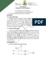 Exper-8 Multiplexer and Demultiplexer