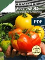 Almanac Start a Garden
