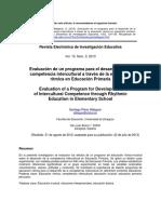 Evaluación de Un Programa Para El Desarrollo de La Competencia Intercultural