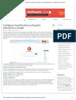 Configurar DuckDuckGo en Español, Alternativa a Google