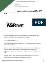 Como Hacer Comentarios en ASP.net C# – Resuelve Tus Problemas