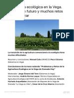 Agricultura ecológica en la Vega. Sector con futuro y muchos retos que alcanzar