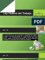 Ley Federal Del Trabajo 16-20