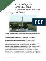 Declaración de la Vega de Granada como BIC, Zona Patrimonial. justificación y ef