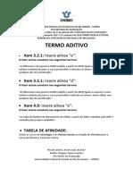 Termo Aditivo - Edital No003- De 27 de Abril de 2017 - Vagas Ociosas 2017.2 e 2018.1