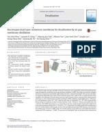 Electrospinning membrane distillation