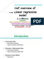 Regression Model Dr N Nagesha