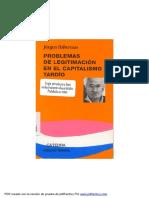 Problemas de Legitimación en El Capitalismo Tardío