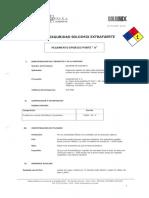MSDS 36 - Pegamento Epoxico Soldimix Extrafuerte