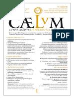 Praeconium Caelum 2018