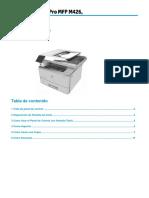 Manual Usuario Final de ImpresoraM426