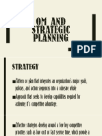 OM and Strategic Planning